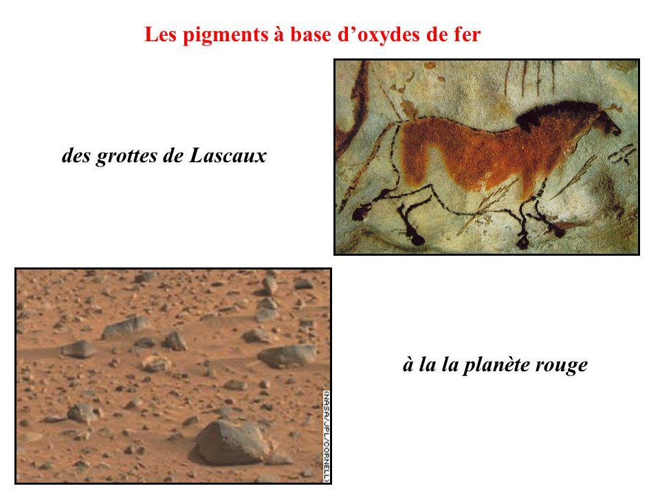 à la la planète rouge des grottes de Lascaux Les pigments à base doxydes de fer