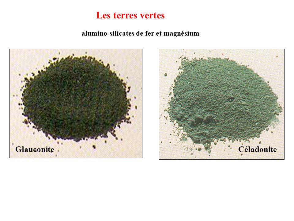 CéladoniteGlauconite Les terres vertes alumino-silicates de fer et magnésium