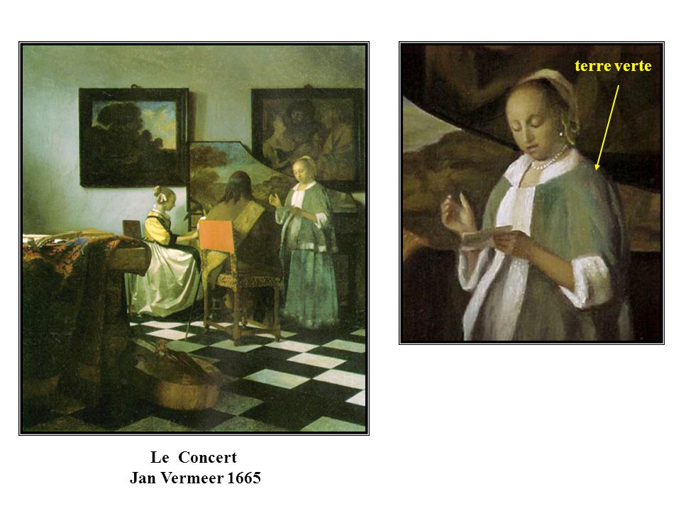 Le Concert Jan Vermeer 1665 terre verte