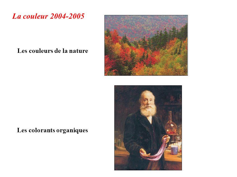 La couleur 2004-2005 Les couleurs de la nature Les colorants organiques