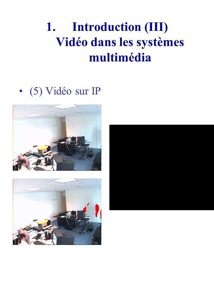 1.Introduction (III) Vidéo dans les systèmes multimédia (5) Vidéo sur IP