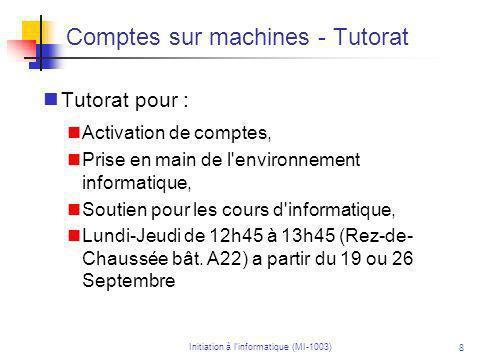Initiation à linformatique (MI-1003) 29 Exemples de domaines en informatique Les langages de programmation Les langages de programmation sont souvent utilisés dans des domaines spécifiques.