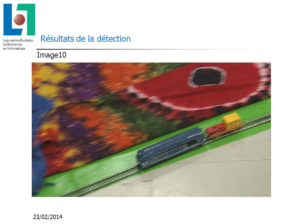 Laboratoire Bordelais de Recherche en Informatique 23/02/2014 Résultats de la détection Image10