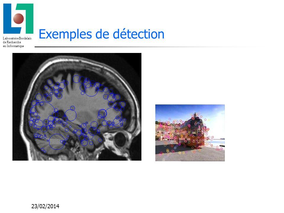 Laboratoire Bordelais de Recherche en Informatique Exemples de détection 23/02/2014