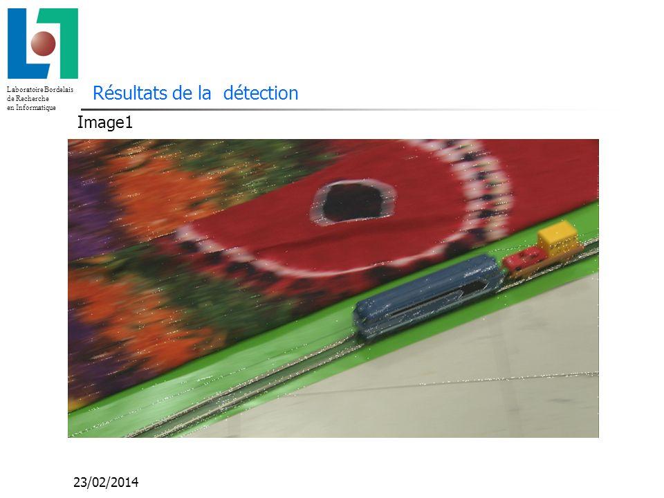 Laboratoire Bordelais de Recherche en Informatique 23/02/2014 Résultats de la détection Image1