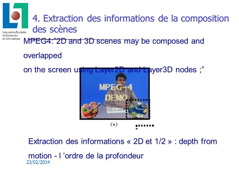 Laboratoire Bordelais de Recherche en Informatique 23/02/2014 4.