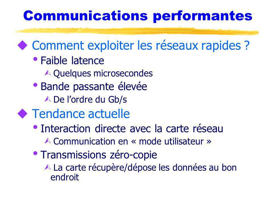 Communications performantes u Comment exploiter les réseaux rapides .