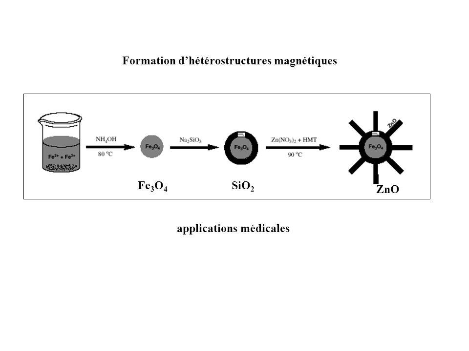 Formation dhétérostructures magnétiques Fe 3 O 4 SiO 2 ZnO applications médicales