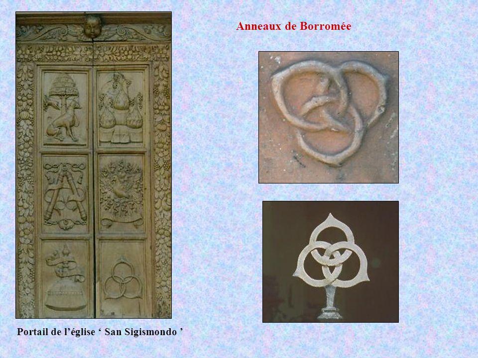 Portail de léglise San Sigismondo Anneaux de Borromée