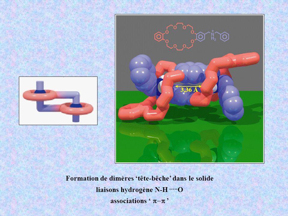 Formation de dimères tête-bêche dans le solide liaisons hydrogène N-H ….. O associations 3,36 Å