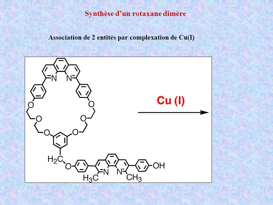 Synthèse dun rotaxane dimère Association de 2 entités par complexation de Cu(I)