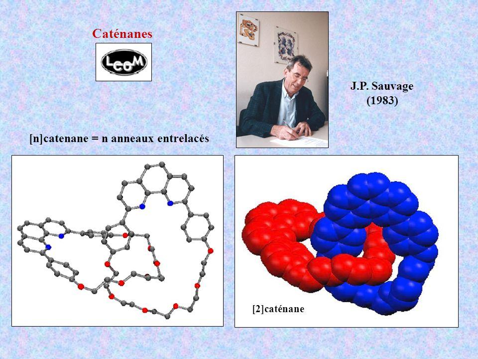 J.P. Sauvage (1983) [n]catenane = n anneaux entrelacés [2]caténane