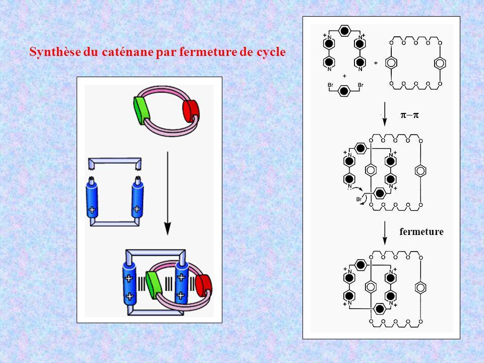 Synthèse du caténane par fermeture de cycle fermeture