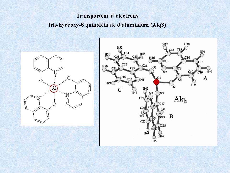 Transporteur délectrons tris-hydroxy-8 quinoléinate daluminium (Alq3)