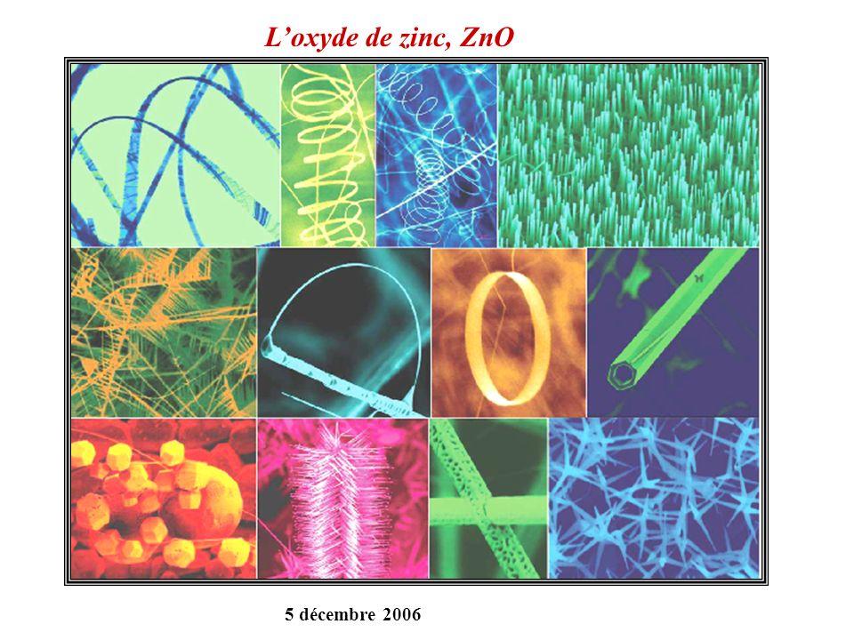 Loxyde de zinc, ZnO 5 décembre 2006