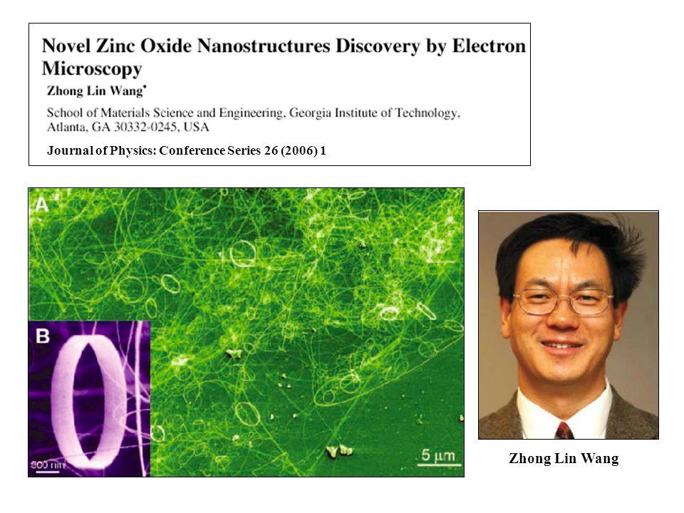 Journal of Physics: Conference Series 26 (2006) 1 Zhong Lin Wang