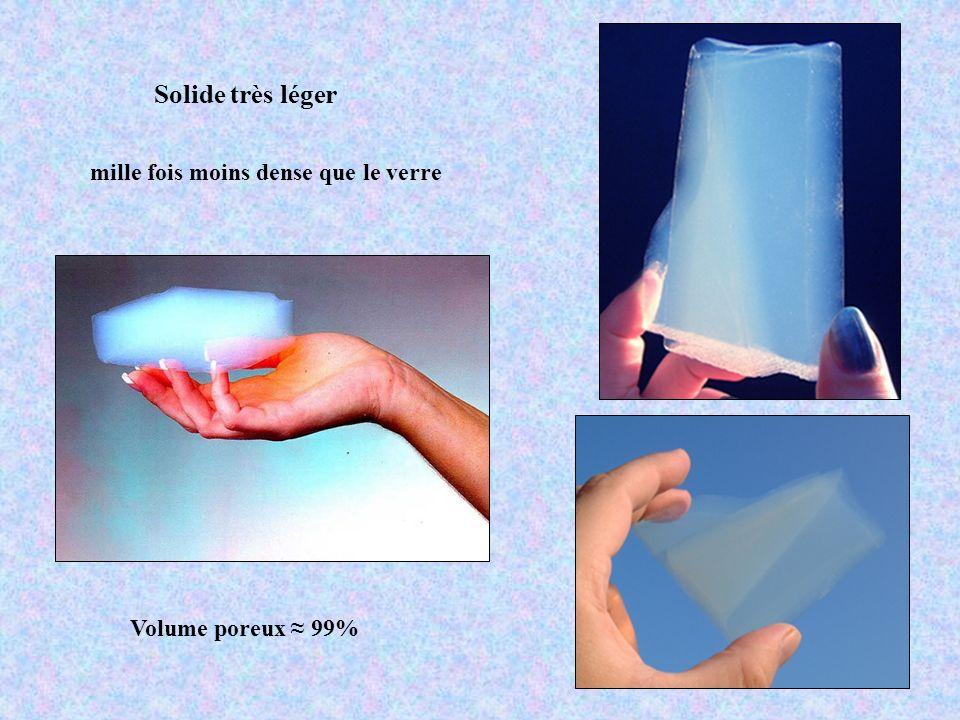 Solide très léger mille fois moins dense que le verre Volume poreux 99%