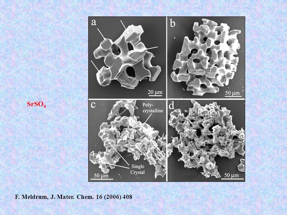 SrSO 4 F. Meldrum, J. Mater. Chem. 16 (2006) 408
