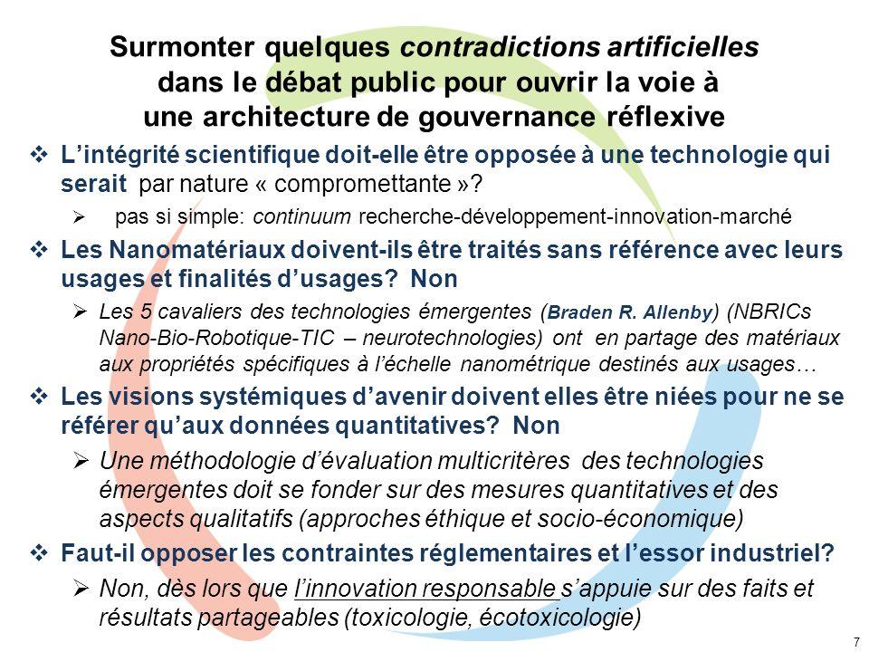 Surmonter quelques contradictions artificielles dans le débat public pour ouvrir la voie à une architecture de gouvernance réflexive Lintégrité scient