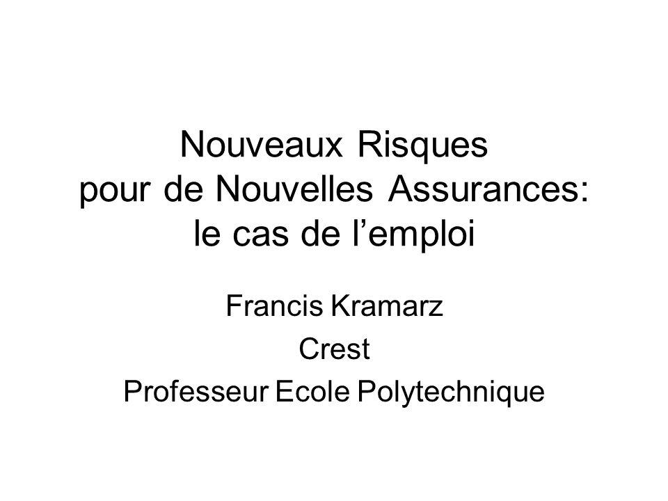 Nouveaux Risques pour de Nouvelles Assurances: le cas de lemploi Francis Kramarz Crest Professeur Ecole Polytechnique