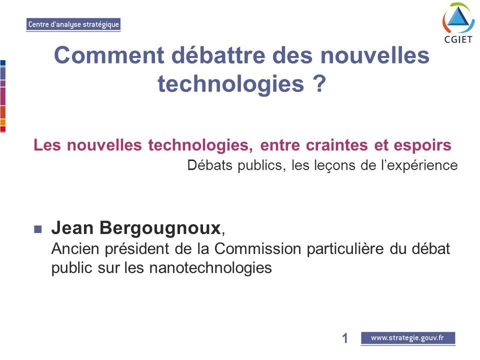 2 Comment débattre des nouvelles technologies .