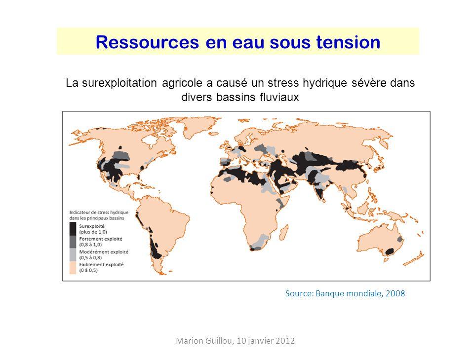 Les sols: un renouvellement très lent Marion Guillou, 10 janvier 2012 Erosion Dégradations physiques (tassement …) Contamination Acidification Baisse des teneurs en matières organiques Salinisation On perd plus de sol quon nen renouvelle