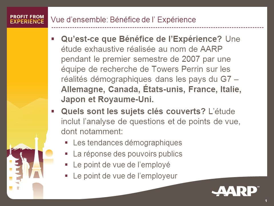 1 Vue densemble: Bénéfice de l Expérience Quest-ce que Bénéfice de lExpérience.