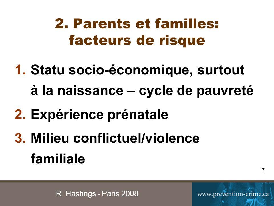 R.Hastings - Paris 2008 8 4. Engagement/qualité de supervision 5.