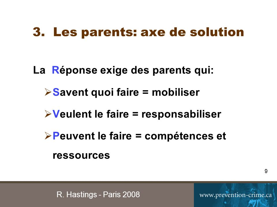 R. Hastings - Paris 2008 9 3.