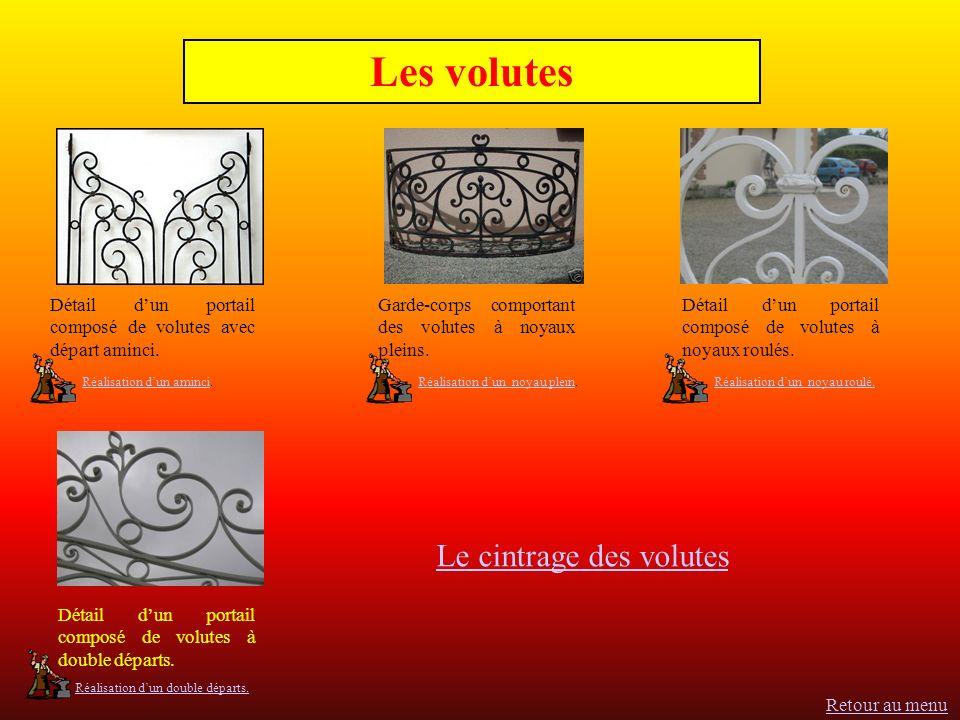 Les volutes Détail dun portail composé de volutes avec départ aminci.