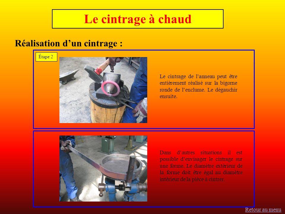 Étape 2 Le cintrage de lanneau peut être entièrement réalisé sur la bigorne ronde de lenclume.