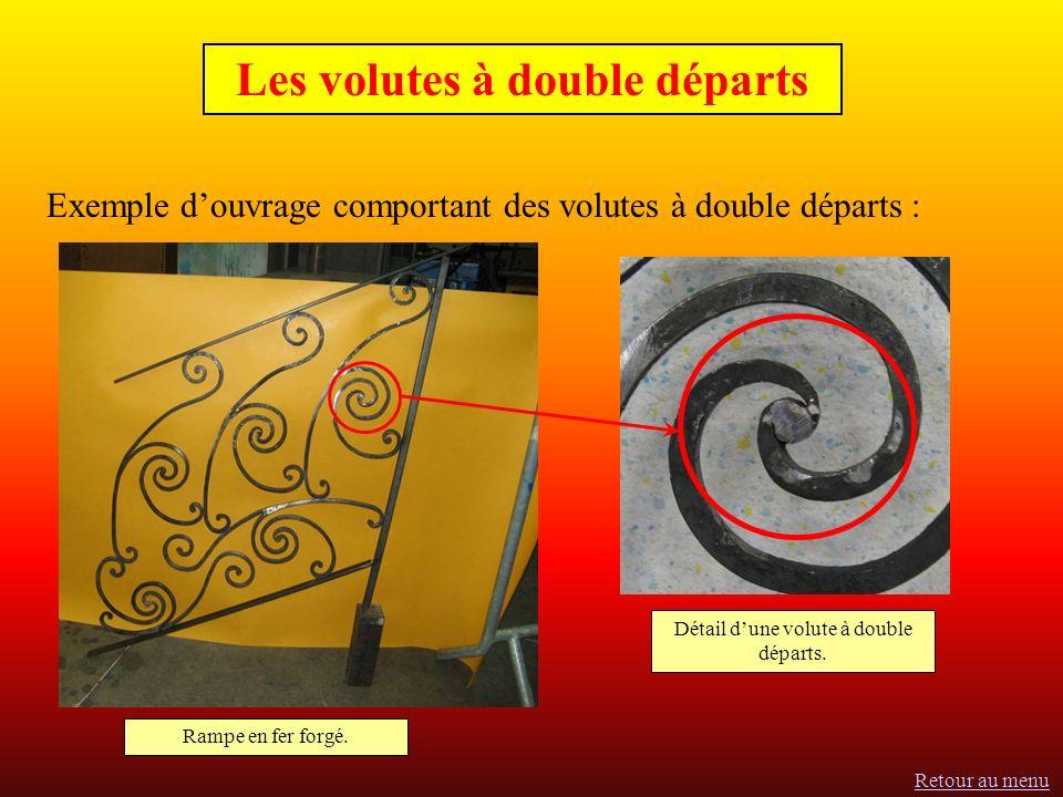 Les volutes à double départs Exemple douvrage comportant des volutes à double départs : Rampe en fer forgé.