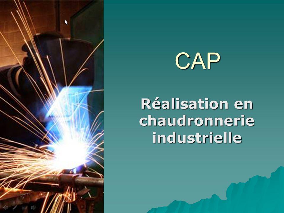 CAP Réalisation en chaudronnerie industrielle