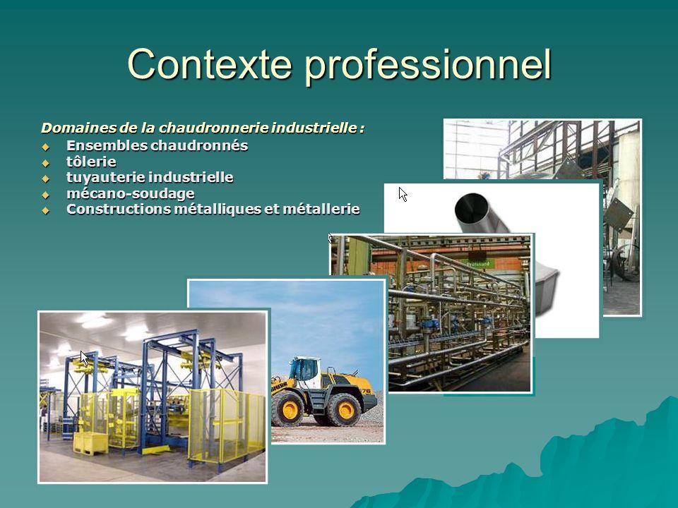 Contexte professionnel Domaines de la chaudronnerie industrielle : Ensembles chaudronnés Ensembles chaudronnés tôlerie tôlerie tuyauterie industrielle