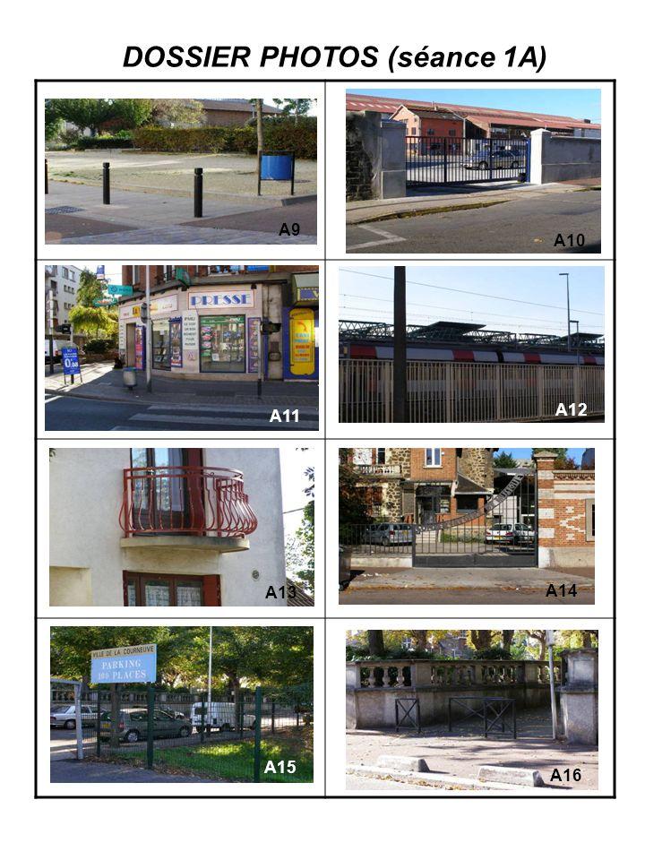 SEANCE 1A CATEGORIES REPERE DES PHOTOS Le métal et logement ……A3…..…………….………………………….