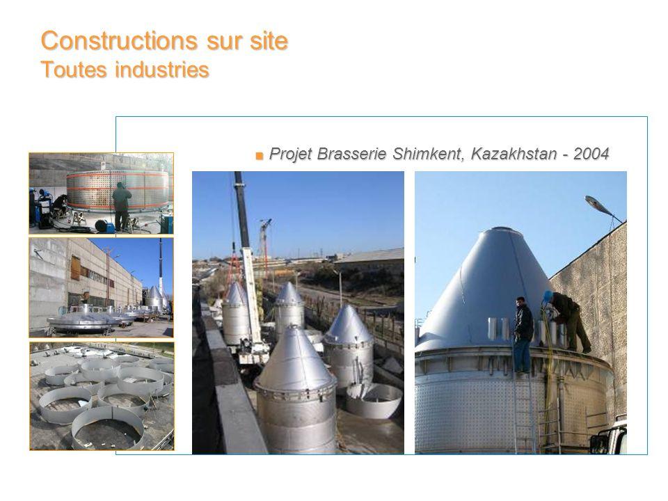 Projet Brasserie Shimkent, Kazakhstan - 2004 Projet Brasserie Shimkent, Kazakhstan - 2004