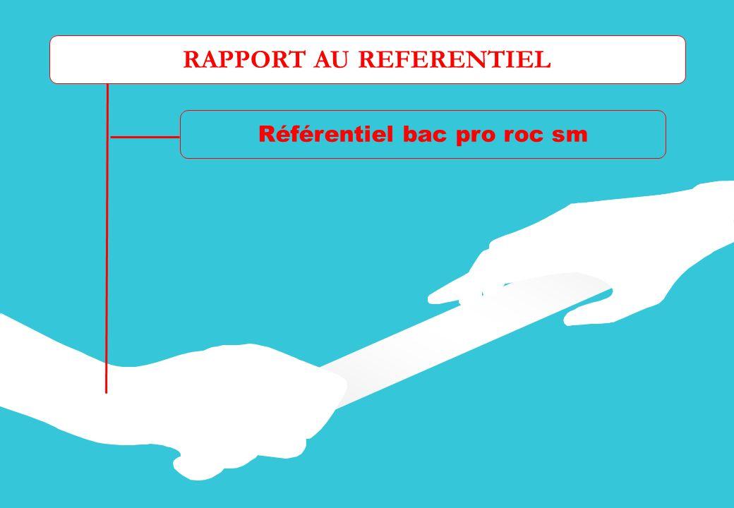 RAPPORT AU REFERENTIEL Référentiel bac pro roc sm Les tâches