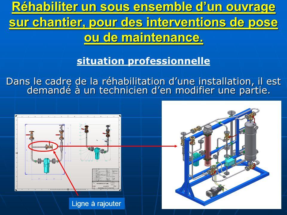 Réhabiliter un sous ensemble dun ouvrage sur chantier, pour des interventions de pose ou de maintenance. situation professionnelle Dans le cadre de la