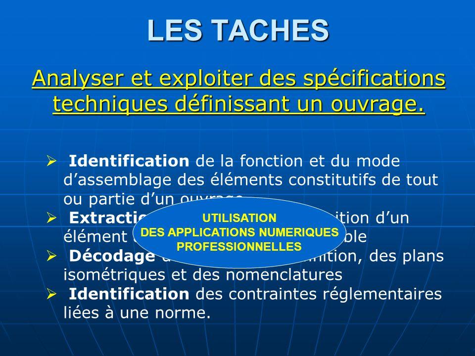 Tâche 1-2 : Extraction des données de définition dun élément à partir dun plan densemble Utilisation dun logiciel de DAO et/ou
