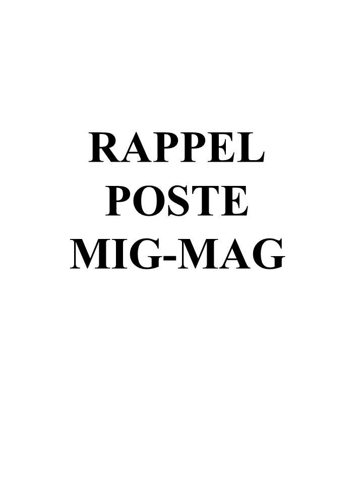 RAPPEL POSTE MIG-MAG