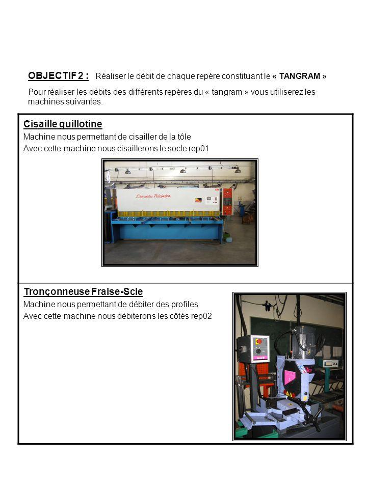 OBJECTIF 3 : Réaliser lencochage du socle rep 01 Machine utilisée : « Presse plieuse » Machine utilisée : « Encocheuse» OBJECTIF 4 : Réaliser le pliage du socle rep 01