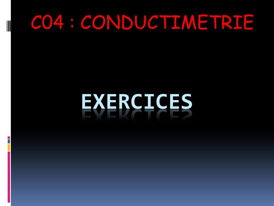 C04 : CONDUCTIMETRIE