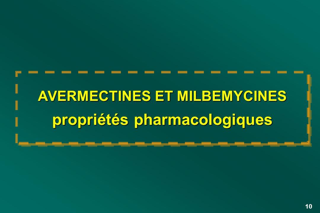 10 AVERMECTINES ET MILBEMYCINES propriétés pharmacologiques