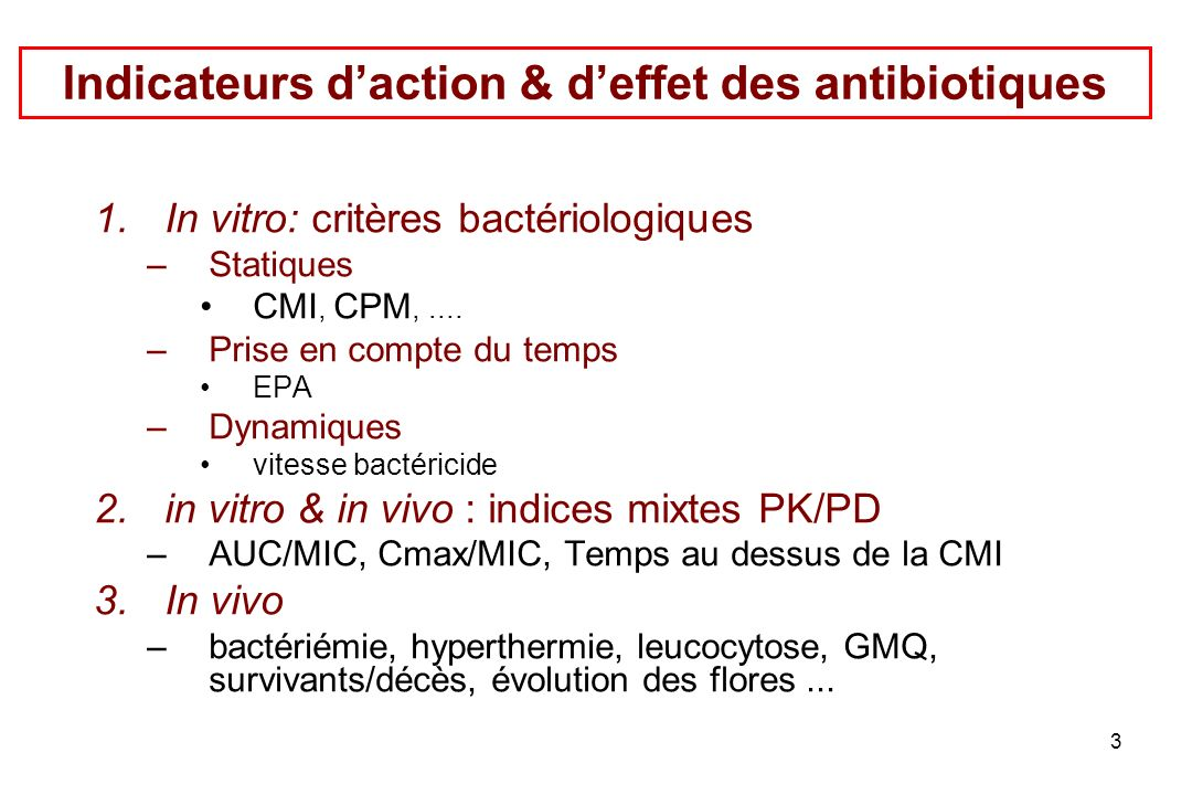 34 Utilité et usage des CMI 1.Thérapeutiques sélection rationnelle d un antibiotique 2.