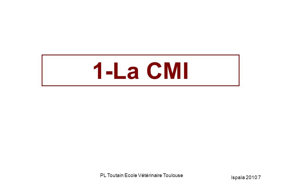 CMI ( Concentration Minimale Inhibitrice): définition Plus petite concentration (mg/L) capable, in vitro, d interdire une croissance bactérienne pendant 24h – mesure effectuée avec un inoculum de départ de 10 5 / ml Concentration bactériostatique Evalué indirectement en utilisant les antibiogrammes 8