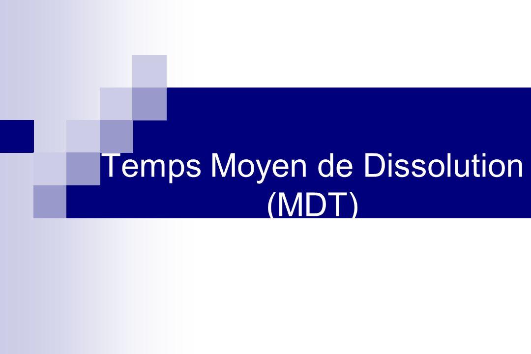 Temps Moyen de Dissolution (MDT)