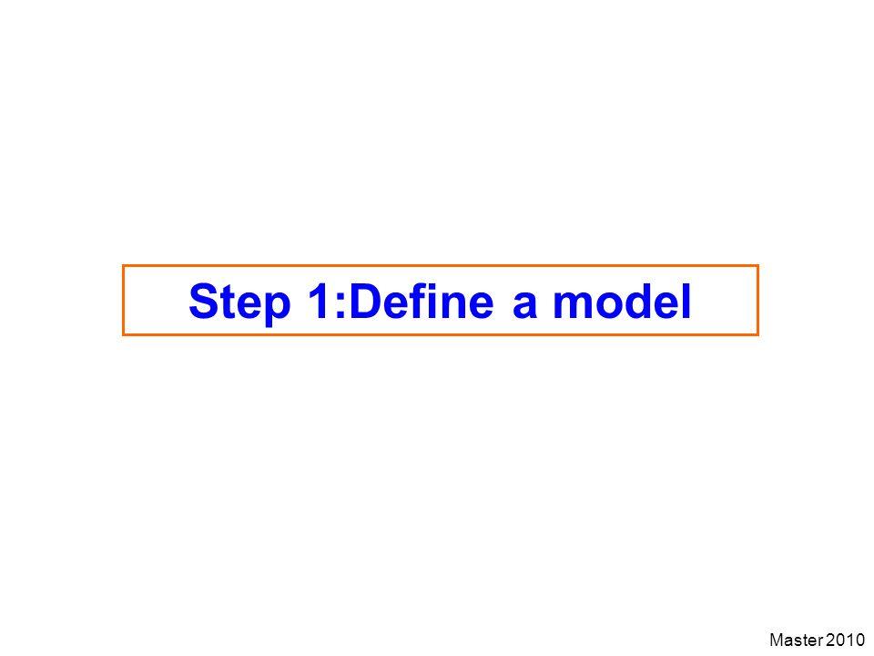 Master 2010 Step 1:Define a model