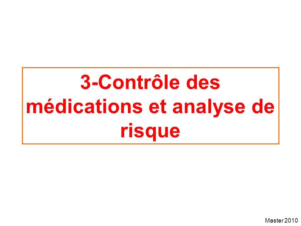 Master 2010 3-Contrôle des médications et analyse de risque