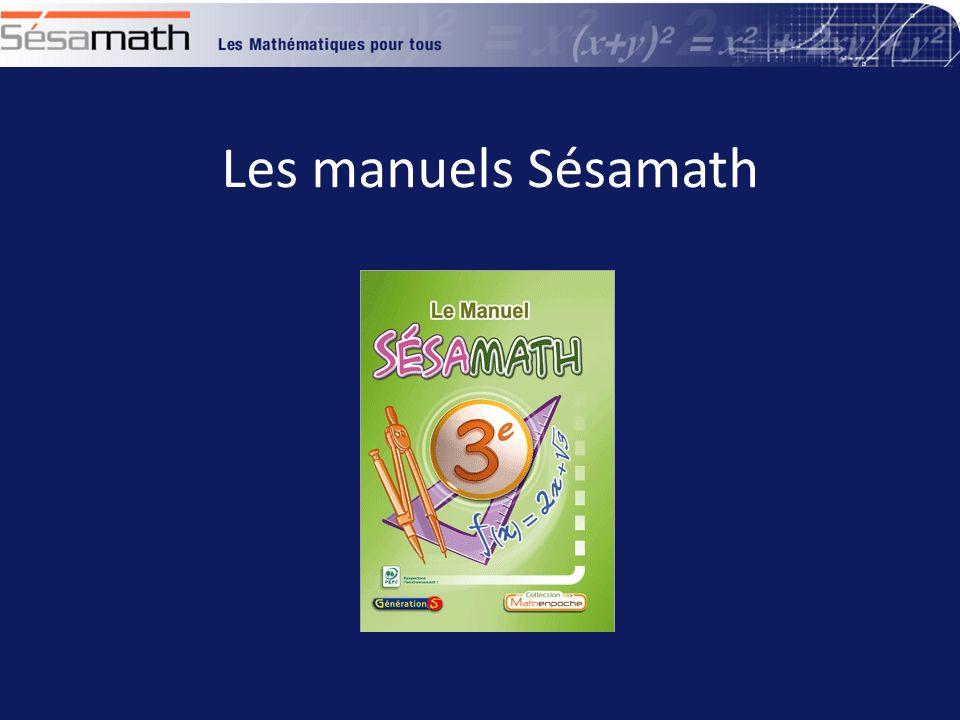 Les manuels Sésamath