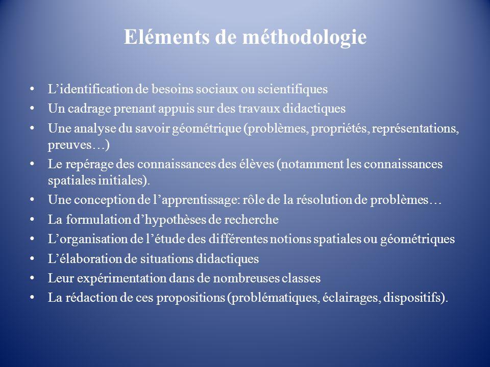 Eléments de méthodologie Lidentification de besoins sociaux ou scientifiques Un cadrage prenant appuis sur des travaux didactiques Une analyse du savo